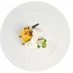 Mozzarella Delattosata con jambonetto di carota e mandorle