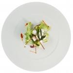 Gocce di panna con asparago verde ad insalata